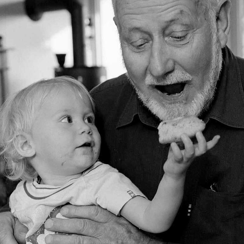 Alter Mann mit Kind, Old man with child